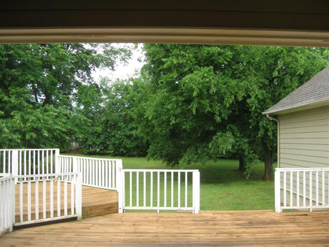 deck looking out to yard