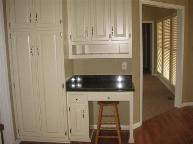 kitchen pantry and desk