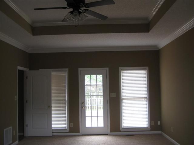master tray ceiling and door to deck
