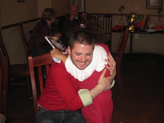 ryan hugging.  GREAT one