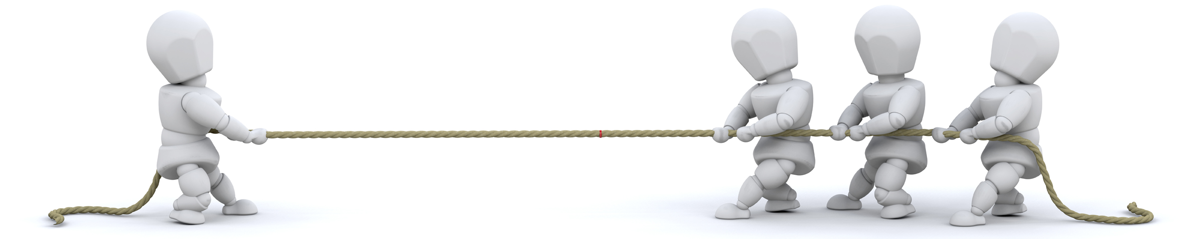 3d Render Of Men Pulling On Rope