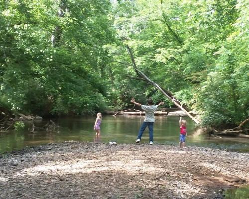 The Jackson clan enjoying Indian Creek.